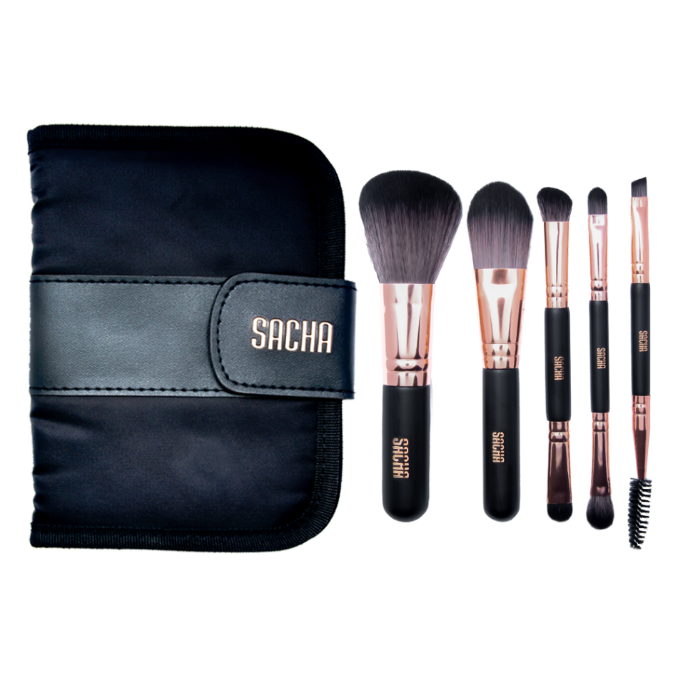 Rose Gold 5 Pc Brush Set
